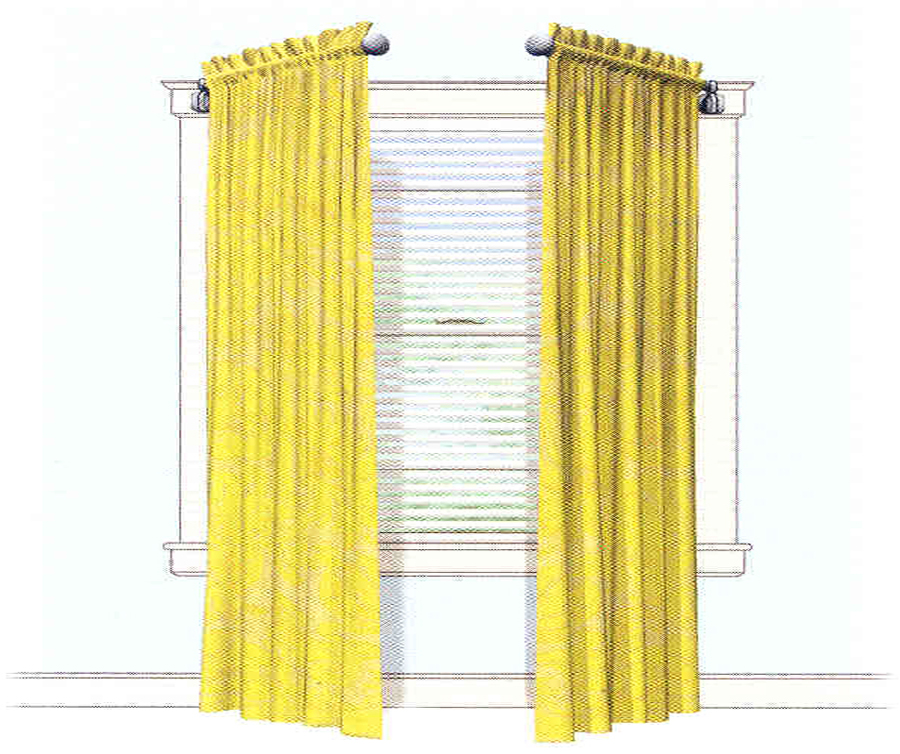 Blinds Under Graperies And Curtains