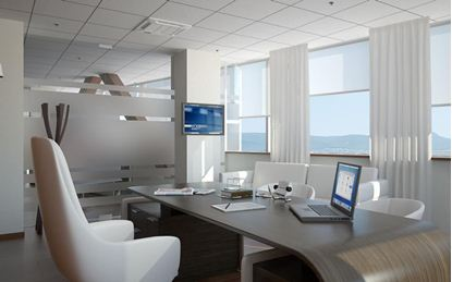 Drapery Home Office