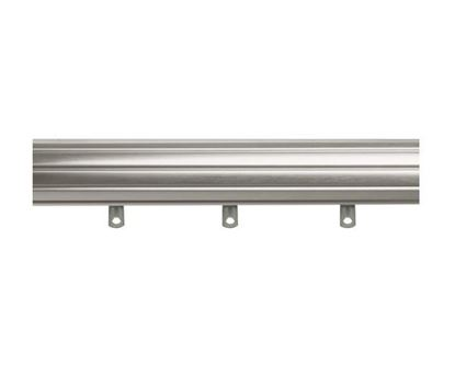 """Picture of 120 - 180"""" Fluted Traverse Rod With Slides And 6 Brackets"""