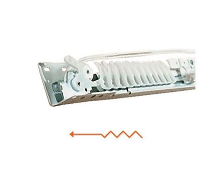 """Picture of Superfine 66-120"""" Traverse Curtain Rod, One-Way Right"""