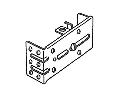"""Picture of 3 1/2""""-4 1/2"""" Drop-In Style Bracket For Traverse Curtain Rods"""
