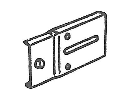 """Picture of 2"""" Bracket Extension Plate For Drop-In Brackets"""