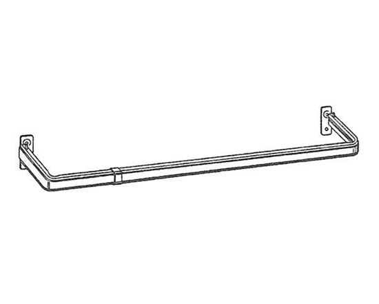 """Picture of 18-28"""" Lockseam Single Curtain Rod, 1 1/4"""" Clearance"""