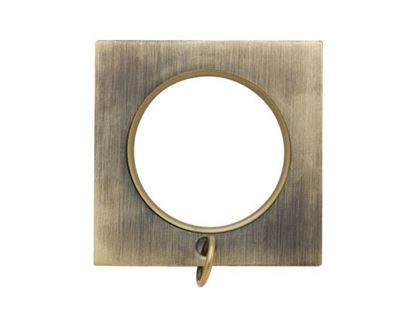 "Picture of Select Square Ring With Liner For 3/4"" Metal Drapery Rods"
