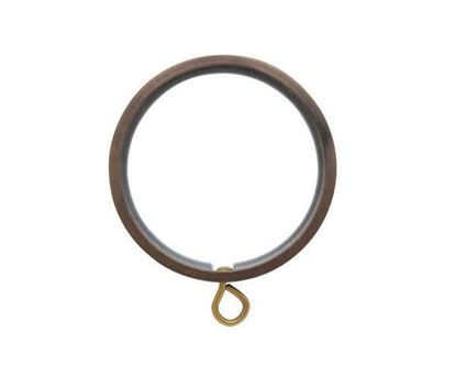 "Picture of Select Flat Ring With Liner For 3/4"" Metal Drapery Rods"